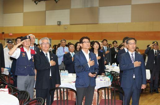 2019년 광복절 기념식에 참석한 단체장