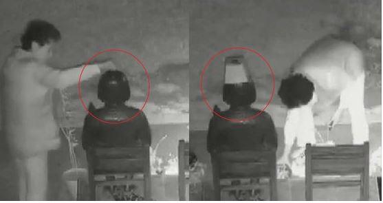 미 캘리포니아주 글렌데일에 세워진 평화의 소녀상 훼손 모습. 현지 경찰은 소녀상 인근 CCTV에 찍힌 영상을 단서로 히스패닉계 60대 여성을 용의자로 체포했다. [사진 소녀상 인근 CCTV화면]