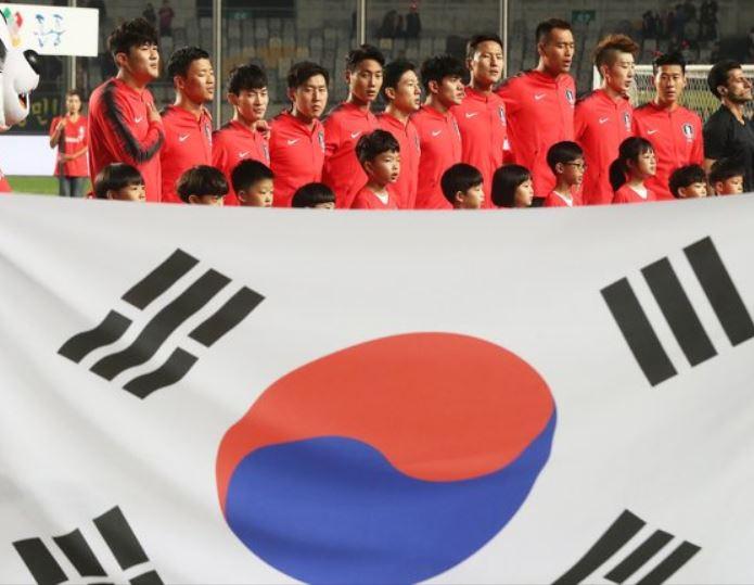 스리랑카와의 월드컵 2차 예선 경기 당시 한국 대표팀. [연합뉴스]