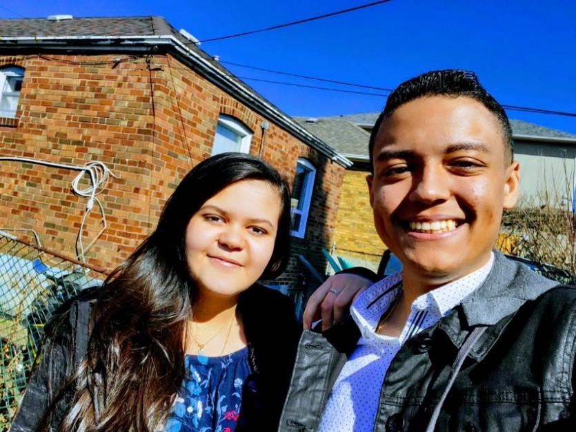 브라질에서 캐나다로 이민 온 루카스 마르케스와 라리사 마르케스 남매 [사진제공:토론토스타]